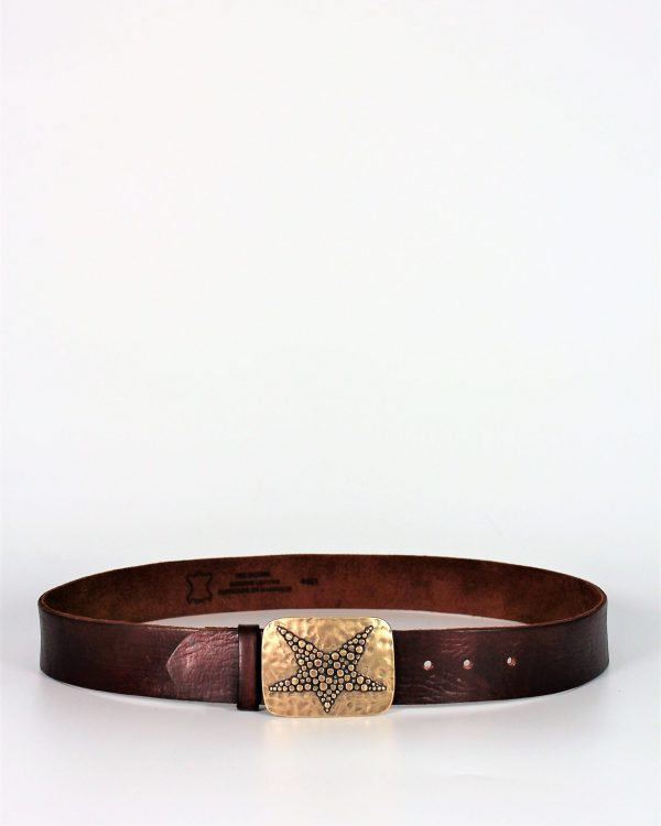 Cinturón-Hebilla-Estrella-Dorada